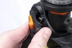 Under £150 tripod group test Vanguard Alta 263AT horizontal release catch