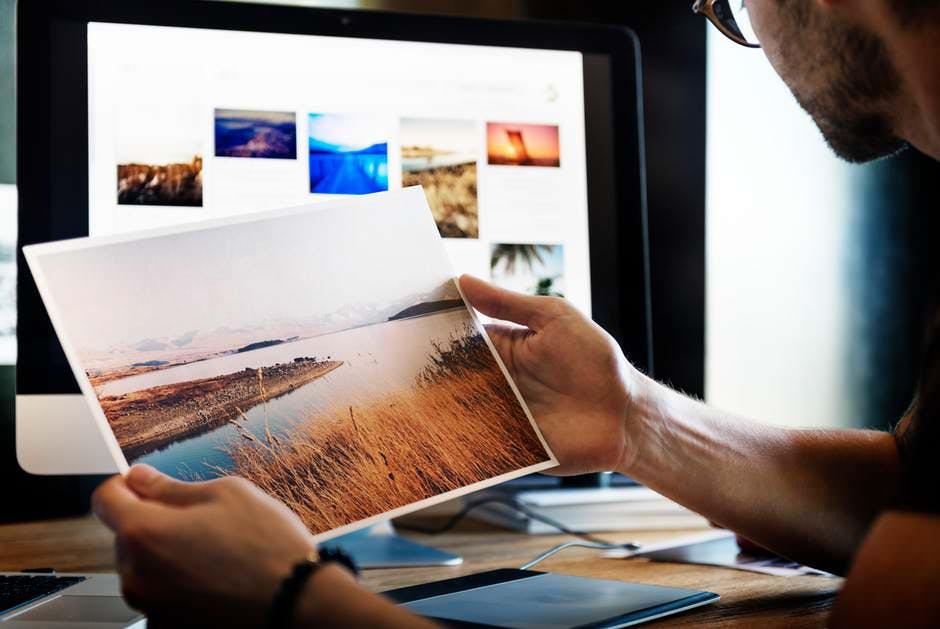 Looking at prints