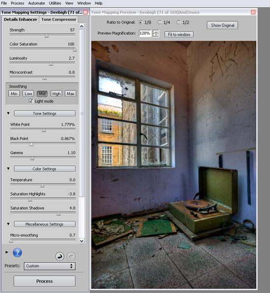 A cartoon style HDR using Photomatix