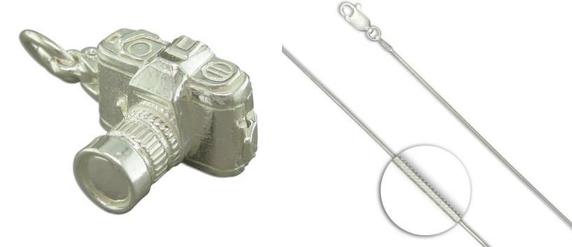 Sterling Silver Camera Pendant