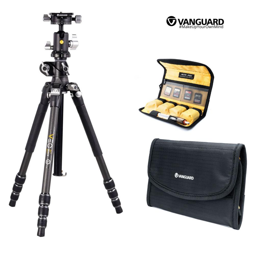 Vanguard VEO 3T+ 264CB tripod and Vanguard ALTA BCL Battery Cases