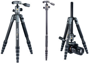 Vanguard Launch VEO 2x 4-in-1 Travel Tripods