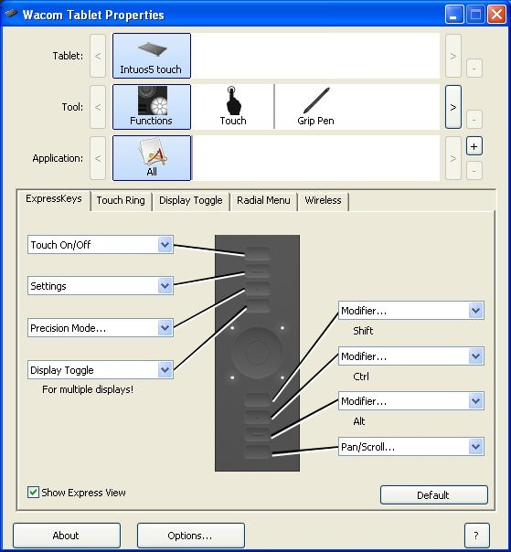 Wacom Button Settings