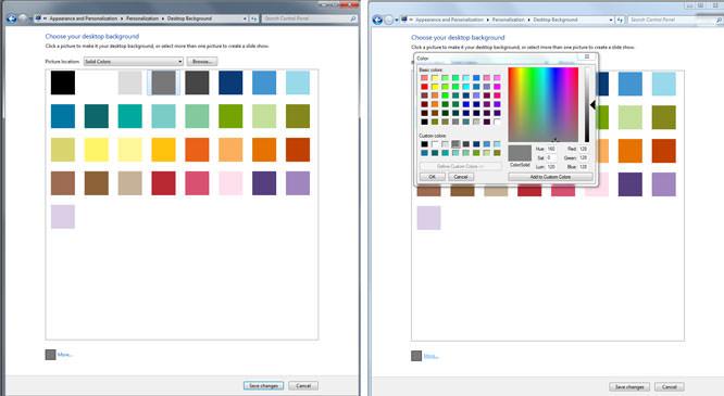 Desktop background colour