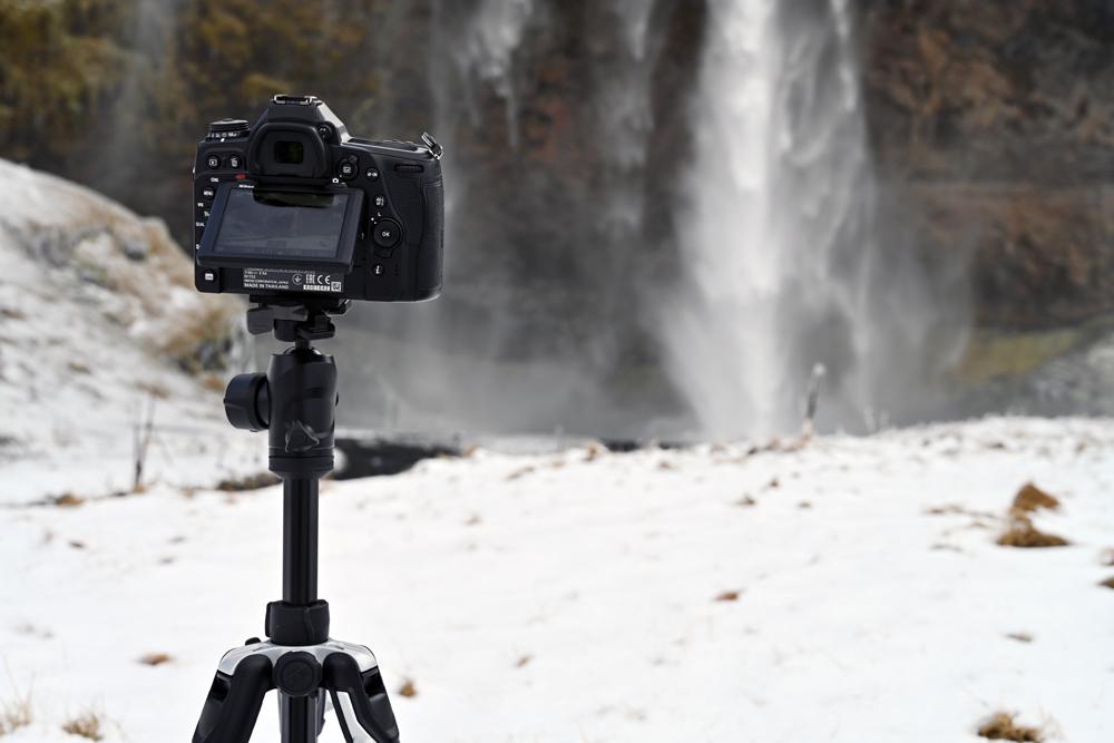 Nikon D780 next to a waterfall
