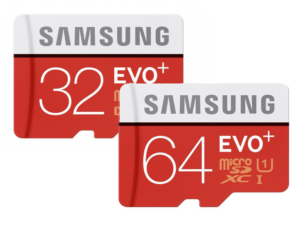 microSD EVO+ memory cards