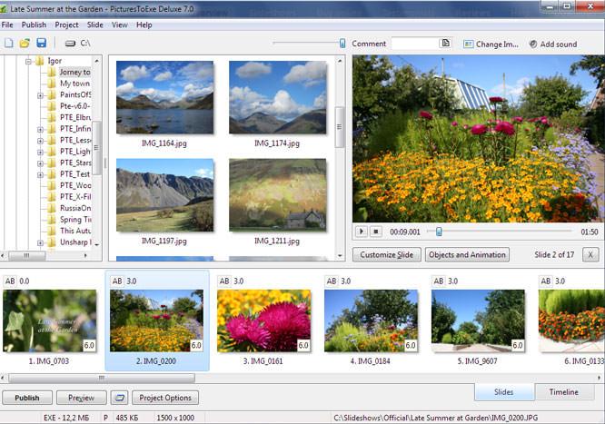 WnSoft Ltd PicturesToExe 7.0 Deluxe Slideshow Maker Software