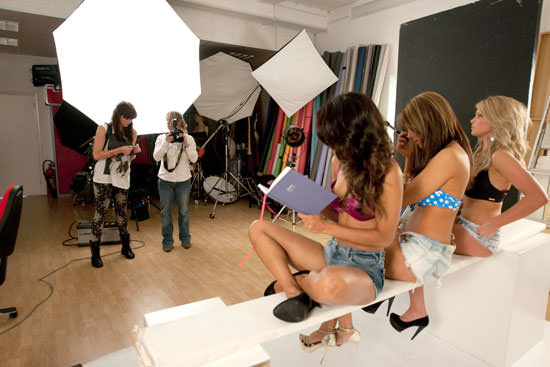 Models and photographer