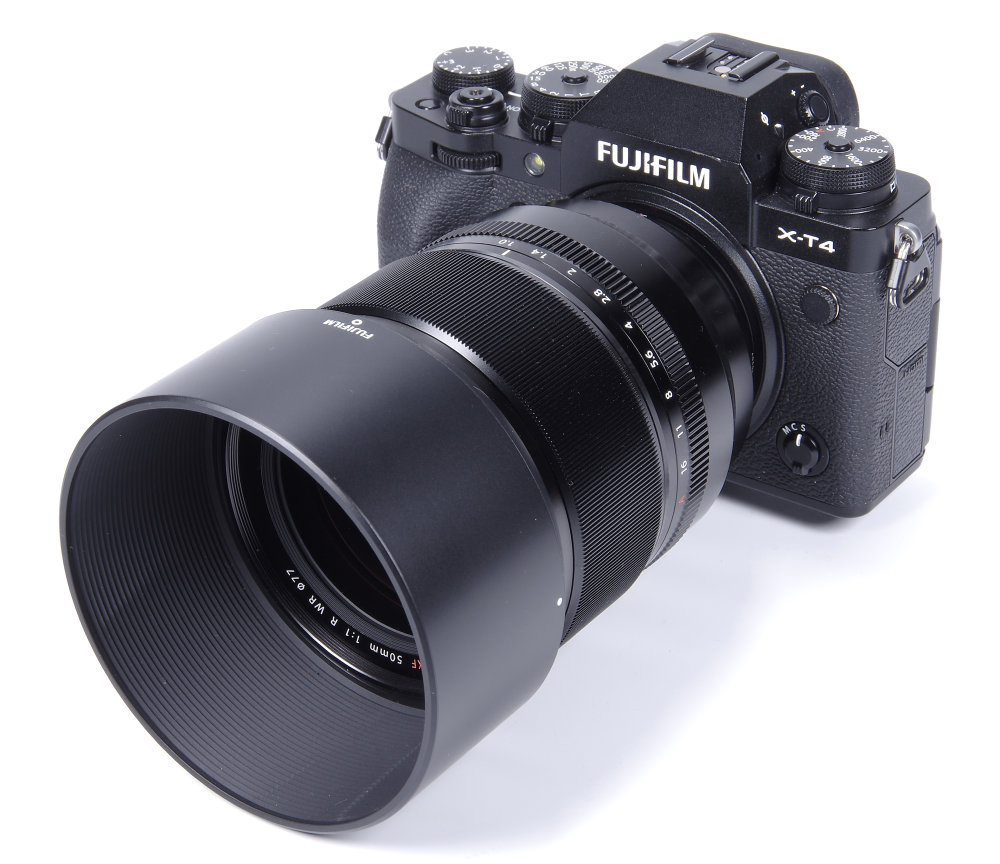 Fujinon XF 50mm F1 With Hood On Fujifilm X T4