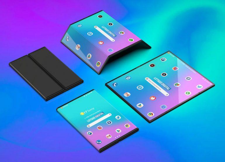 Xiaomi foldable smartphone 3D render
