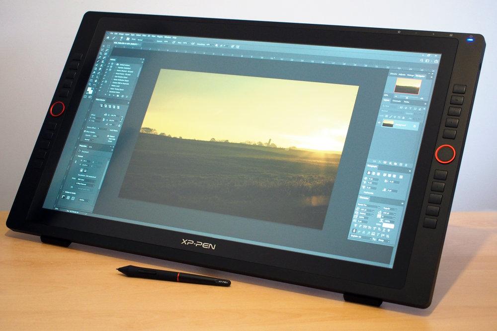 Xp Pen Art Display 24 Pro On Desk