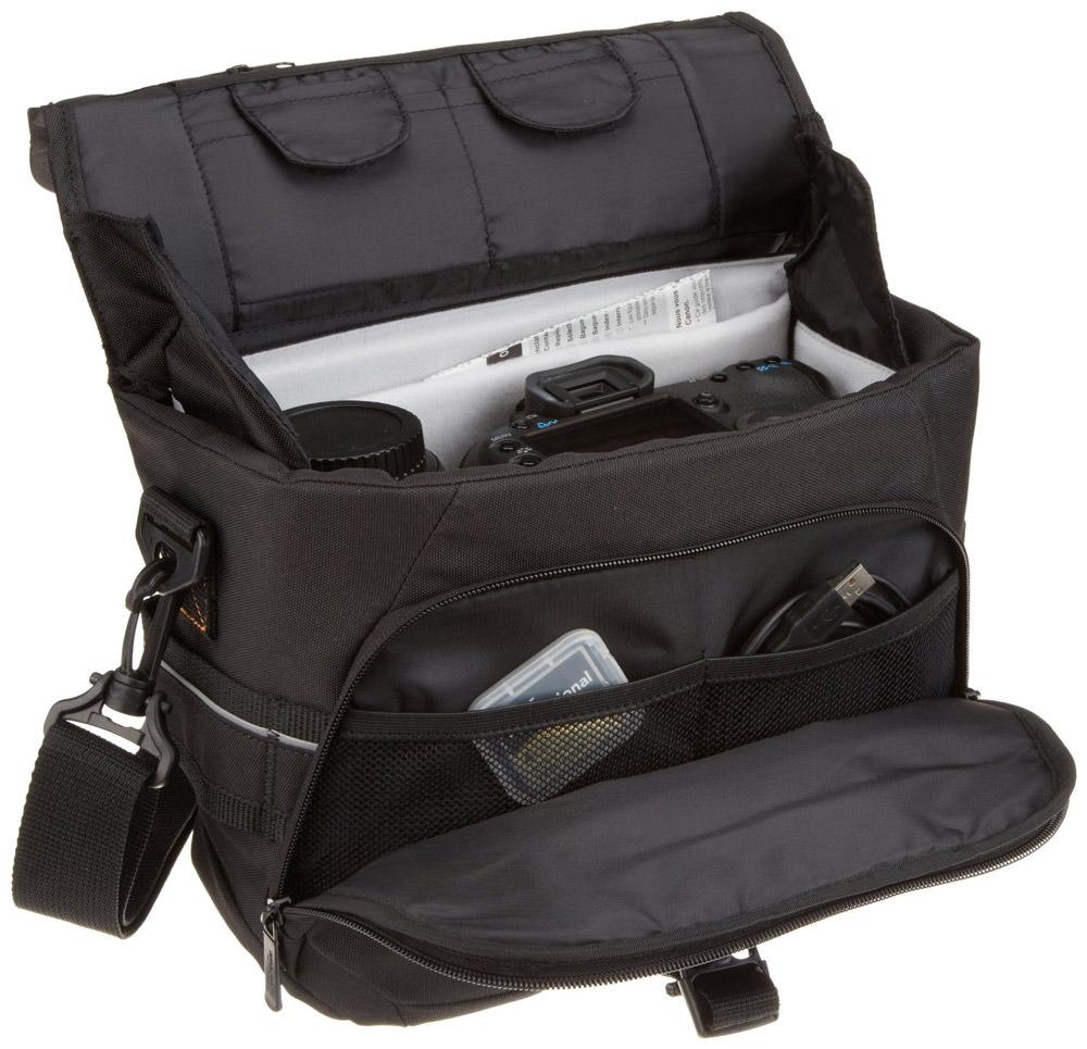 AmazonBasics DSLR Gadget Messenger Bag Medium with Grey Interior
