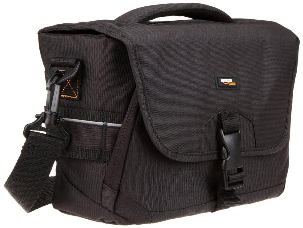 AmazonBasics DSLR Gadget Messenger Bag Medium with Orange Interior