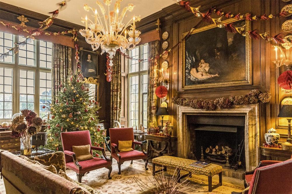 The hall at Christmas