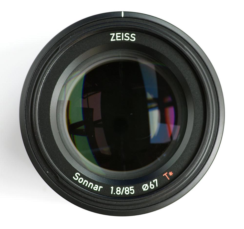 Zeiss Batis 85mm F1,8 Front Element View