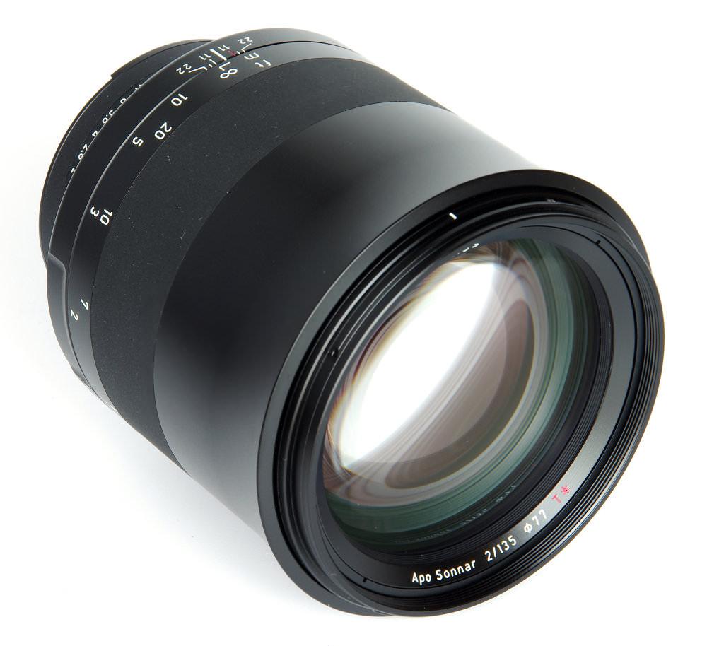 Zeiss Milvus 135mm F2 Front Oblique View