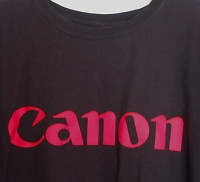 Selling : Canon T-shirt red logo on black cotton 3XL/3XG/3TGCanon T-shirt red logo on black cotton 3XL/3XG/3TG