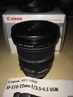 Selling : Canon EFS 10-22 f3.5-4.5 USMCanon EFS 10-22 f3.5-4.5 USM