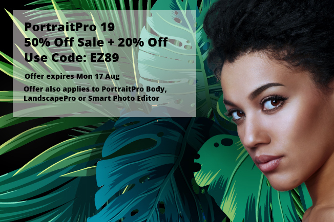 PortraitPro 19 SALE: 50% OFF + 20% OFF