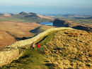 Winshields Crag the highest point on the Wall great views east & west Park at Steel Rigg