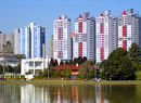 Apartment blocks overlooking Park Barigui, Curitiba