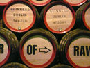 Behind the barrels is a presentation on the coopers' art