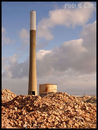 The focal point of Steetley is the Chimney which can be seen right across Hartlepool. Standing here above the piles of rubble that litter the site.