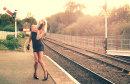 nene valley railway at orton mere, peterborough