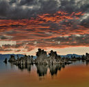 Sunrise on the south tufas of Mone Lake California