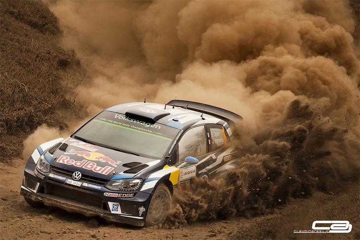 Dusty Frame rally car