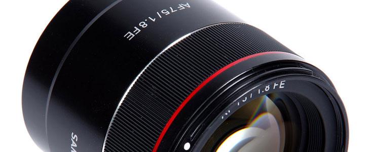 Samyang AF 75mm lens newsletter