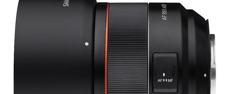 Samyang AF 85mm lens