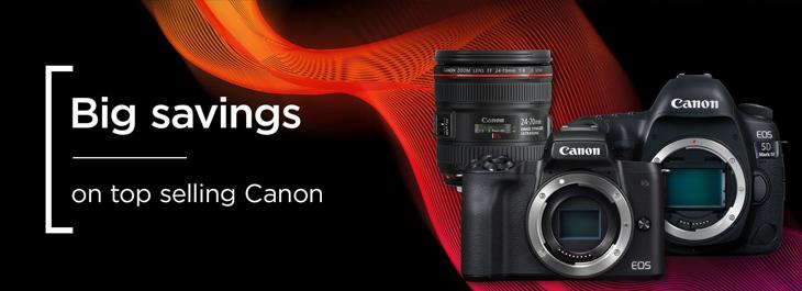 Big Saving On Top Selling Canon Cameras
