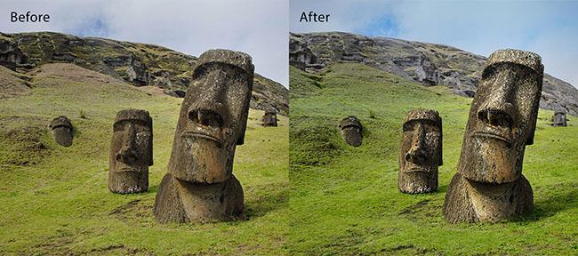Landscape pro before/after