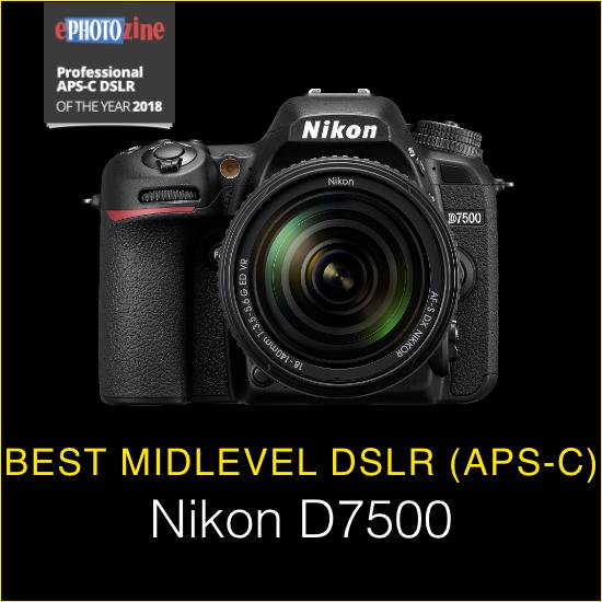 Best Midlevel DSLR (APS-C) Nikon D7500