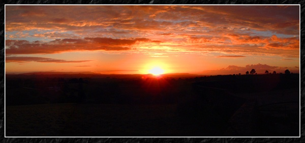 A sunset over the rolling hills of Fermanagh by Tinman