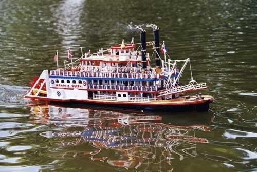 Model Boat by Linda