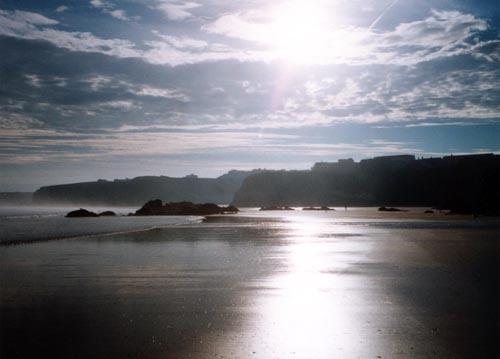 Morning light on the beach by heidi