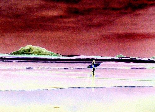 Surreal Surfer by heidi
