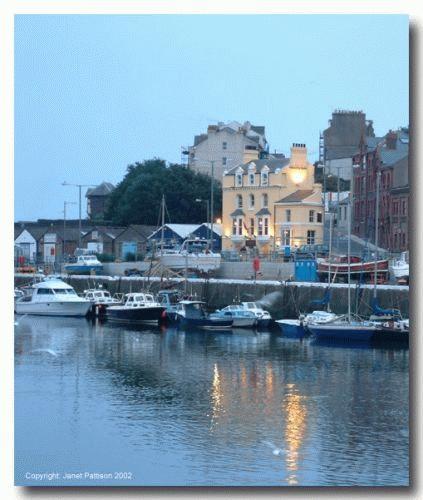 A July evening, Douglas harbour by Janet Pattison