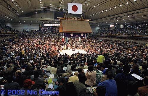 The Osaka Sumo stadium by nicanddi