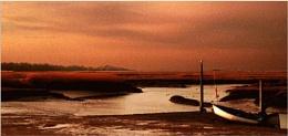 norfolk creek at dusk