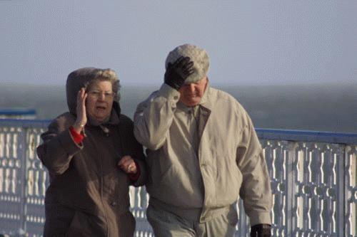 March Winds on Llandudno Pier by davemo