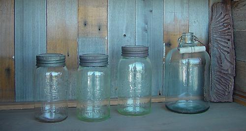 Jars and Wood by qwertshadow