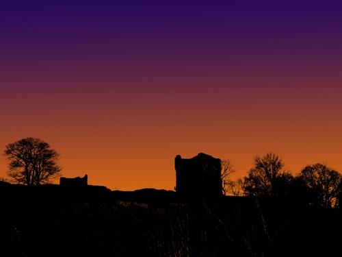 Peveril Castle by Ian G W