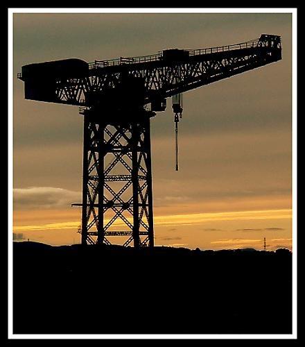 Sunset Crane by hudster