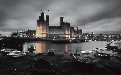 Caernarfon Castle by WideAngleVision