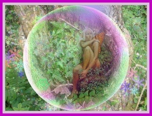 Tree Fairy in bubble by mandarinkay