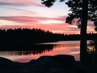 Sundown over Lake Muskan by kingseany