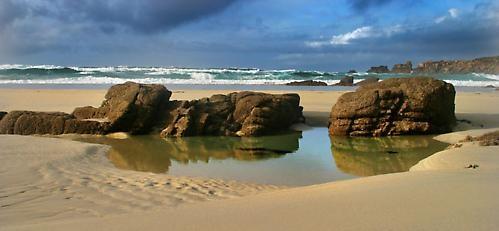 gwenver beach by leesearle